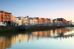 Ha'penny Bridge is pedestrian bridge built in 1816 over River Li